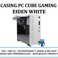 Casing PC Cube Gaming Eiden (White) - ATX,USB 3.0,PCI Expansion 7 Slot