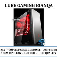 Casing PC Cube Gaming Bianqa-ATX,USB 3.0,Expansion 7 Slot,Tempered Gla