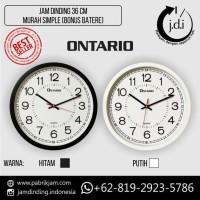 Jam Dinding Murah Simple Diameter 36 cm (Bonus Batere ABC)