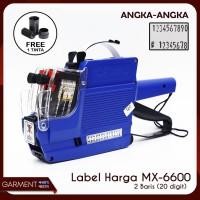 Alat Label Harga 2 Baris ANGKA-ANGKA tipe MX 6600