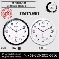 Jam Dinding Murah Simple Diameter 40 cm (Bonus Batere ABC) Best Seller