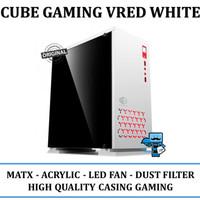 Casing PC CPU CUBE GAMING VRED White - M-ATX, Acrylic Window, USB 3