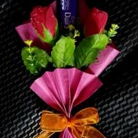bouquet bunga coklat