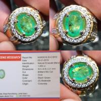 Batu Bluish Green Emerald Colombia Jamrud Zamrud Colombia 1.493 crt