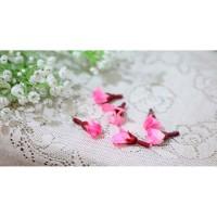 bunga artificial kuntum kelopak petal petals KUNCUP SAKURA PINK