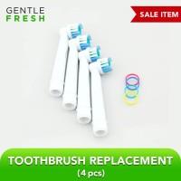 Pengganti Bagian Kepala Sikat Gigi Elektrik OralB - Putih isi 4