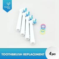 Electric Toothbrush Replacement Heads 4Pcs for Oral-B Pengganti kepala