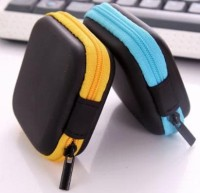 Bag Earphone Bentuk Persegi / Tempat Headset / Tas Earphone