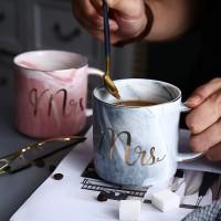 Marble Mug Couple Set/ Mr Mrs Coffee Mug/ Gelas Marbel Cangkir Premium