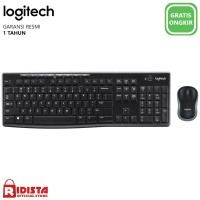 Logitech Combo Keyboard dan Mouse Wireless MK270r - L073