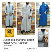 gamis jubah Ikhwan (laki laki) bordir katun cvc redthopal amwa/jubah