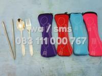 Set alat makan portable (sendok, garpu, sumpit)