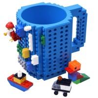 Gelas Mug Lego / Gelas Puzzle / Gelas Brick Biru