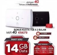 MiFi Modem WiFi Router 4G UNLOCK Huawei E5673 Free Telkomsel 14GB