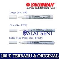 Spidol Snowman Paint Marker - White Colour Snowman White Marker