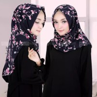 hijab kerudung jilbab instan salwa motif bunga sakura