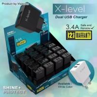 batok charger vizz x-level 3.4A original kode XL-TC22