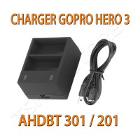 Charger Gopro Hero 3 (AHDBT 201 / 301)