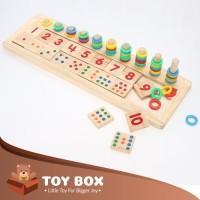 Wooden Number Match Domino Board (8521JL) - Grosir Mainan Anak -