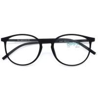 Frame Kacamata Korea Pria Wanita OPPA OP47 FBL Hitam Bulat Minus