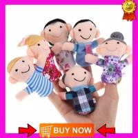 [6 pcs] Boneka jari - Boneka mini keluarga bahan plush cloth lembut