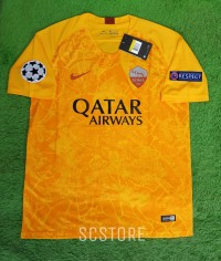 Jersey AS Roma 3rd FULL PATCH UCL 2018/2019 Grade Ori