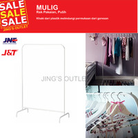IKEA MULIG - Clothes Rack - Rak Pakaian - Putih - 1 Pc - Plus bubble