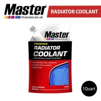 Master Radiator Coolant Pouch/ Refill GREEN/ RED 1qt