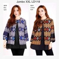 Blouse Batik Jumbo XXL Atasan Batik Bigsize Wanita Baju Batik Jumbo
