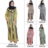 Pakaian Muslim Santai, Longdres Batik, Kancing, Bumil. (LPT001-22)