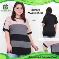 Jumbo Macchiato Blouse Bigsize Baju Atasan Wanita