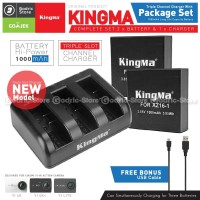 KingMa Paket Complete Battery Charger Set for Xiaomi Yi 4K Version 2