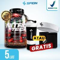 Muscletech Nitrotech 4 Lbs / 4lbs Whey Protein Nitro tech Muscle Tech
