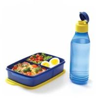 Tupperware Cool Teen New Paket Tempat Makan Plus Botol Air