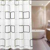 Tirai Kamar Mandi Gorden PEVA Shower Curtain w Pengait 180x180 Cm