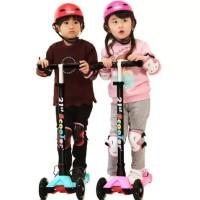 Scooter Anak Kekinian Roda PU LED / Skuter Anak Roda 3 / Otoped Anak
