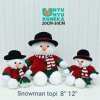Boneka snowman boneka salju natal 25cm