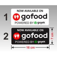 Sticker Go Food vinyl stiker tahan air 16 x 7 cm