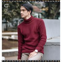 New Men S Knit Sweater Rajut Pria Gomuda Turtle-Neck 4 Paling Murah