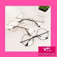 Kacamata Wanita Bulat Korean Retro Metal Flat Mirror Optical Glasses D