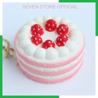 SStore New Strawberry Cake Squishy Toys Slow Rising Squishy Cake Food