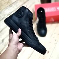 Sepatu Converse Chuck Taylor High Black Edition 70s Kulit
