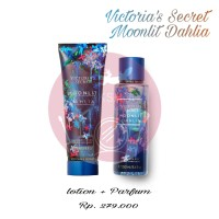 LOTION PARFUM 1 SET VICTORIA SECRET MOONLIT DAHLIA ORIGINAL TERMURAH