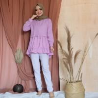 Baju Atasan Blouse Wanita Terbaru Silby Ruffle