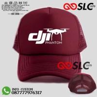 TOPI JARING TRUCKER DJI PHANTOM MERAH MAROON CUSTOM S5 - SLC