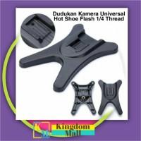 KM001 Dudukan Kamera Universal Hot Shoe Flash 1/4 Thread - Black