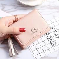 EDW 079 Dompet Mini Slot Fashion Wallet Wanita Murah Korea Dompet Cewe
