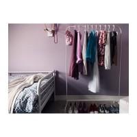 IKEA MULIG Rak gawang / gantungan baju besi gawang putih
