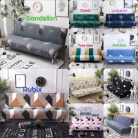Cover/Sarung Sofa Bed Import Kain Penutup/Pembungkus Sofa Bed Stretch