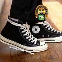 sepatu converse 70s black hitam putih edgret premium 1:1 original